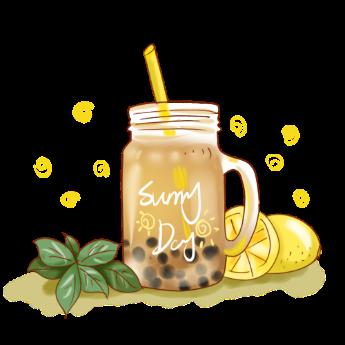 Pngtree—pearl lemon milk tea small 4671874 2